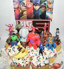 Disney Big Hero 6 Movie Cake Toppers Set of 12 w Hiro Hamada, Baymax and More!