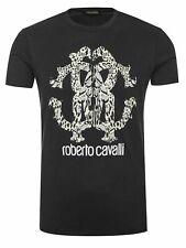 ROBERTO CAVALLI T-Shirt Schwarz Gr. (M) 100% Cotton Made in Italy UVP. 150€