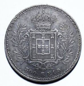 1896, Portugal, 500 Reis, Carlos I, gVF, Silver, KM# 535 [Lot 1536]