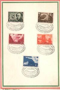 Hungary 1941 Souvenir card Mi 660-664  used Szechenyi