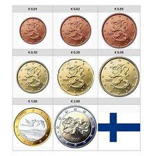 1x Série 1 cent à 2 euro Finlande 2011 (8 pièces) (neuves UNC)