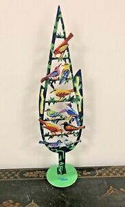 "Metal "" Birds ""  sculpture hand painted by DAVID GERSTEIN"