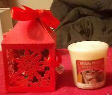 YANKEE CANDLE CHRISTMAS TREATS VOTIVE SAMPLER IN CHRISTMAS SNOWFLAKE GIFT BOX
