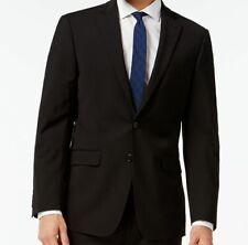 $665 Calvin Klein Men Extreme Slim X Fit Wool Sport Coat Black Jacket Blazer 42R