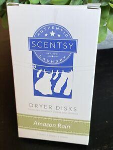 NEW! Scentsy Laundry Dryer Disk Bar 2 Pk Amazon Rain