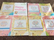 7 confetti style Wedding celebration cards Cross stitch chart only / 885