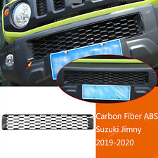 Carbon Fiber ABS Front Bumper Grille Insert Cover Fit For Suzuki Jimny 2019 2020