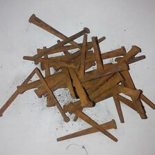 Square Cut Antique Look Rusty Nails Craft Hardware Barn home Vintage decor (40)