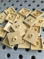 LEGO New Lot Of 24 Green Smooth Tile Plate With Bow 1X2X2//3 Friends Roof Floor
