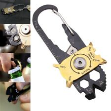 20 In 1 Multifunctional Carabiner Key Chain Hook Utility Ring Camping Buck J3H5