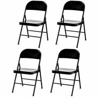 4 Set Mainstays Traditional Armless Steel Folding Chair