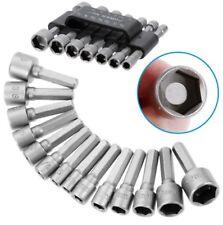 14pc Nut Driver Set perceuse à tige hex Kit Outils Métrique & Impérial Socket