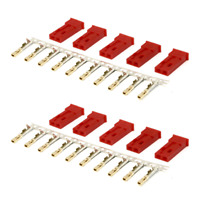10 Stück JST 2Pin BEC Stecker Connector Plug Female Weiblich Lipo Akku Krimpen