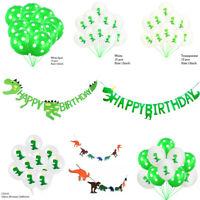 Cartoon Dinosaur Flag Balloon Garland Banner Birthday Party Home Hanging Decor