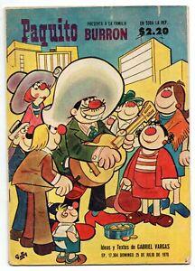 PAQUITO Presenta LA FAMILIA BURRON #17304 Mexican Comic 1976