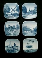 Vintage B&G Copenhagen miniature plates Set of 6