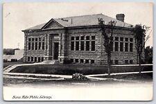 Sioux Falls Public Library Building, South Dakota Minnehaha County Postcard