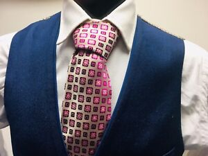 AteSeta Firenze Gold & CandyFloss Pink Woven Silk Tie RRP £115