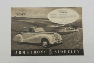 Armstrong Siddeley Sapphire Advert from 1952 - Original Ad Advertisement