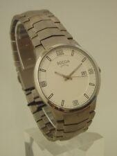 Boccia Herrenuhr Uhr Titan Titanium Quartz 5 bar Datum flach 3561-01