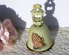 Vintage Collectible Homco Jesus' Praying Hands Bisque China Bell Excellent