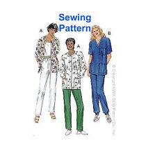 Kwik Sew k2807 patrón Misses Scrubs (pantalones y camisetas) Xs-xl millones de EUR