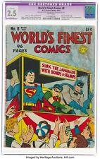 World's Finest Comics #8 DC Comics Winter 1942 CGC 2.5 Superman Batman Robin cvr