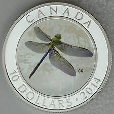 Canada 2014 $10 Green Darner, Dragonflies #2, 1/2 oz. Pure Silver Hologram Coin