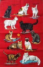 "VINTAGE ""TOP"" gatto gattino Tabby MANX Tortoiseshell da Ulster Biancheria TEA ASCIUGAMANO"