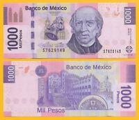 Mexico 1000 Pesos p-127d 2013 (Serie D) UNC Banknote