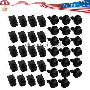 "For Chevy GM trucks Fender body bolts 4/16-18 x 7/8"" & Short U Panel Nuts- 50pcs"