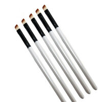 5X Professional Elite Angled Eyebrow Brush Eye Liner Brow Makeup Tool White New