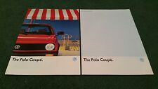 August 1988 / 1989 VW POLO COUPE inc GT / FOX - ENGLISH-GERMAN BROCHURE + SPEC