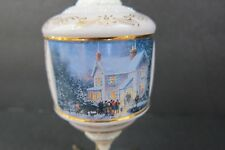 Thomas Kinkade Christmas Ornament Evening Carolers 2001 Bradford Exchange EUC