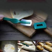 Curved Bread Cutter Loaf Toast Slicer Arc Blade Green Pro Baking Tool CF