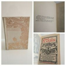 KING JOHN - Chiswick Shakespeare LIMITED Edition - Vellum Binding - Rare Book