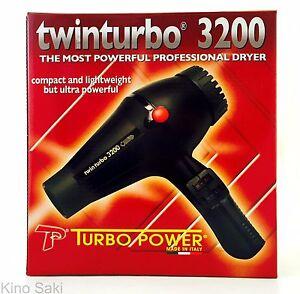 TURBO POWER TWINTURBO 3200 MOST POWER PROFESSIONAL HAIR DRYER BLACK