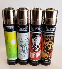 Brand New 4 Clipper Lighters Movies Theater 2 Collection Full Series Refillable