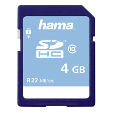 Hama SD SDHC 4Gb Memory Card Class 10 Full HD #104365 (UK Stock) BNIP
