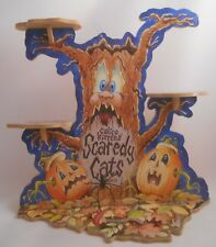 Calico Kittens Scaredy Cats Halloween Displayer Cak046 Euc Display Spooky Spider
