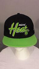 New Era Cap 9FIFTY Hardwood Classics NBA Miami Heat Green Black Snapback Hat