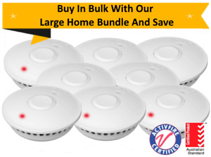 10yr Battery Wireless Interconnected Photoelectric Smoke Alarm – GS511E – 8 Pack