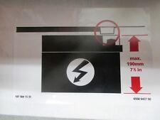 "Aufkleber ""Batteriehöhe"" A 107 584 15 38 Mercedes Benz label"