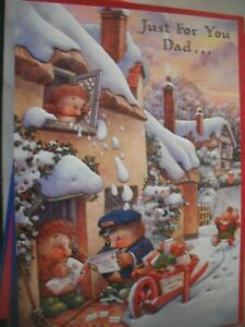 Just For You DAD Delivery of Christmas Wishes(Xmas Post) Country Companions Card