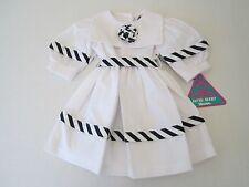 NWT Girl's Sailor Dress 3T White/Navy Boutique Portrait Patriotic Kids NOS USA
