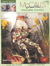 McCall's Creates Poseable Pretties Doll Toy Pattern Booklet Rabbit Clown Fairy