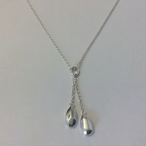 925 Sterling Silver pebble necklace (18 inches)