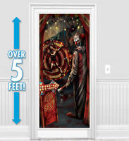HALLOWEEN HORROR CREEPY CARNIVAL DOOR COVER POSTER EVIL CLOWN  PARTY DECORATION
