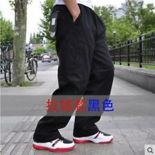 Men Work Cargo Long Pants Pockets Loose Fit Trousers Overalls Casual Pants Size