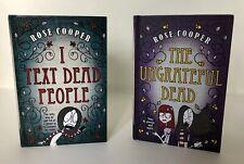 Lot 2 ROSE COOPER HB books I Text Dead People & Ungrateful Dead Serious Humor